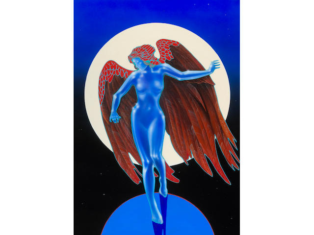Led Zepplin Blue Angel original painting by Mouse
