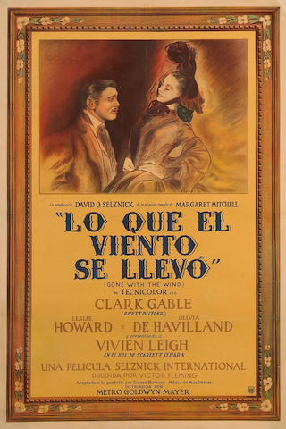 Gone with the Wind Argentine one-sheet (c.1944)