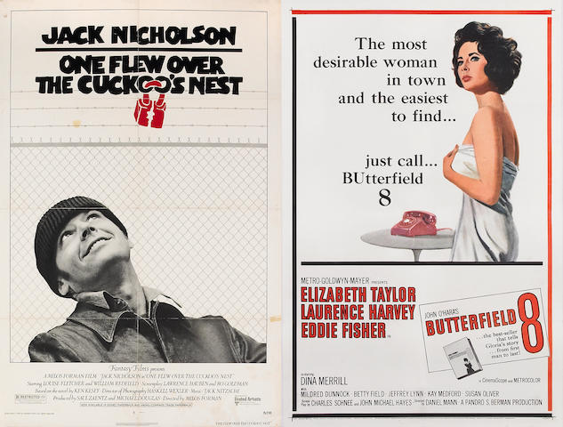 American Grafitti; Apocalpse Now; Butterfield 8; One Flew Over the Cuckoo's Nest; Taxi Driver; Apocalpse Now Polish (6 posters total)
