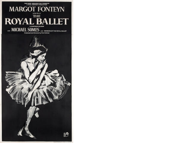 Royal Ballet, Rank Organization, 1960, UK 3 sheet, 80x40 on linen, A