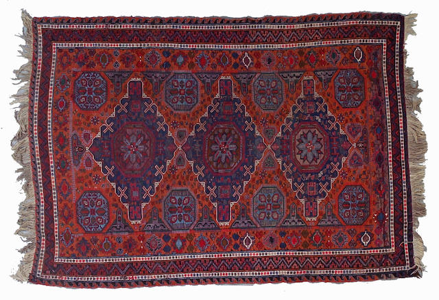 A Soumak rug Caucasus Size approximately 9ft 6in x 6ft 9in