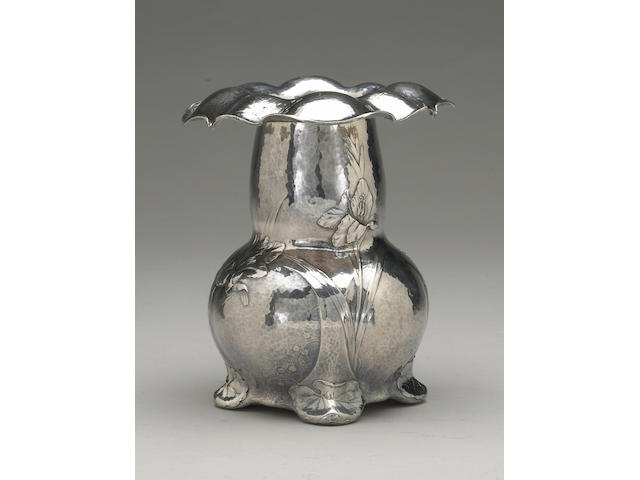Martele Silver Vase by Gorham, Signed by W. C. Codman