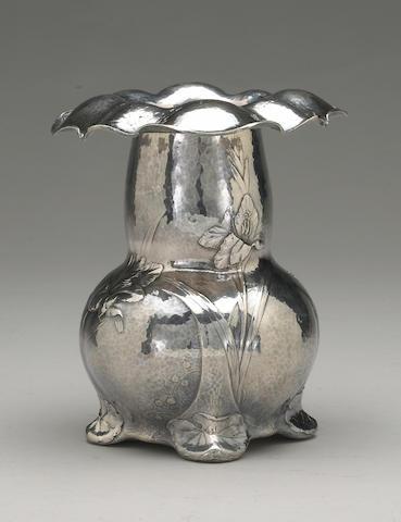 Martele Silver Vase by Gorham, Signed by W. C. Codman