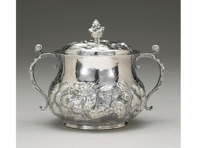 Charles II Silver Porringer with Cover