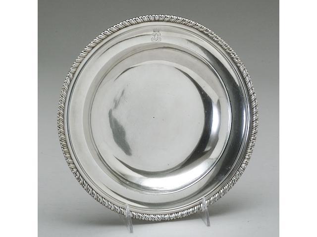 Geo II Silver Set of Nine Soup Plates