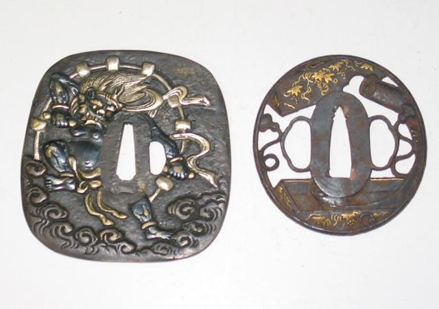 Two <i>tsuba</i>