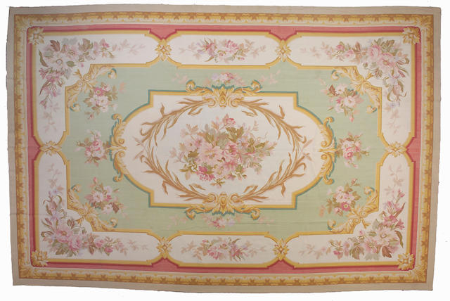 A Contemporary Chinese Aubusson style carpet Size approximately 12ft x 18ft