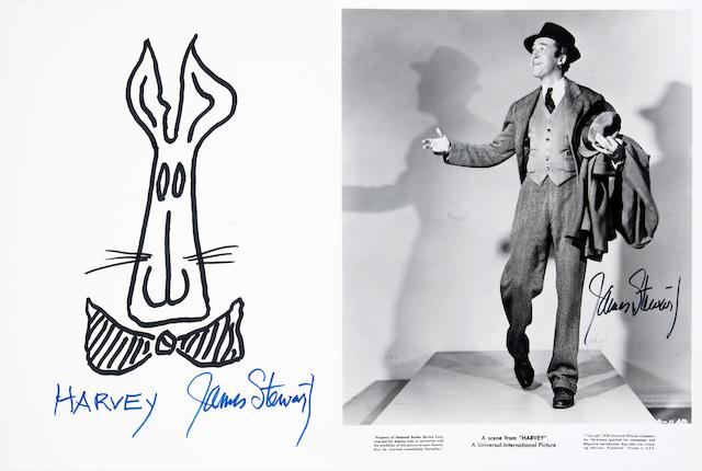 "A collection of three Jimmy Stewart pieces related to the film ""Harvey"""