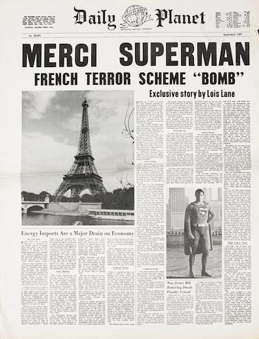 "A newspaper prop from ""Superman"""