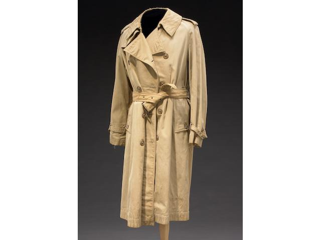 Humphrey Bogart's trademark trenchcoat he wore as Rick Blaine in Casablanca publicity campaign