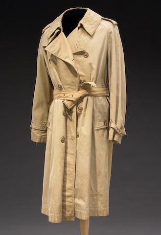 Humphrey Bogart's trademark trenchcoat he wore as Rick Blaine in Casablanca publicity campaign