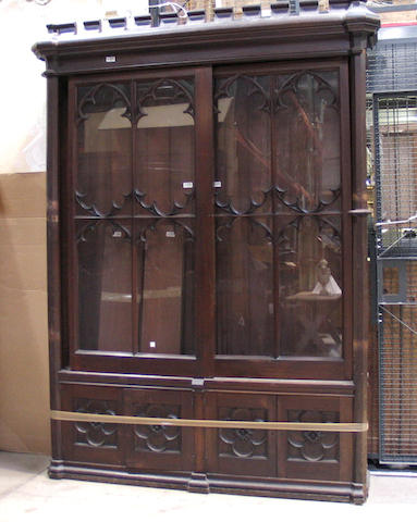 A Gothic Revivial walnut bookcase