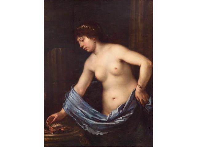 Circle of Francesco Furini (Italian 1604-1646) A nude woman 38 1/4 x 51in (97.2 x 129.5cm)