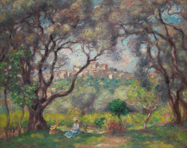 Georges d' Espagnat (French 1870-1950) Vue de Cagnes 26 x 32in (66 x 81.5cm)