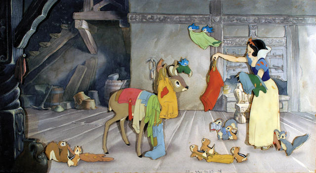 """A Walt Disney celluloid from """"Snow White and the Seven Dwarfs"""""""
