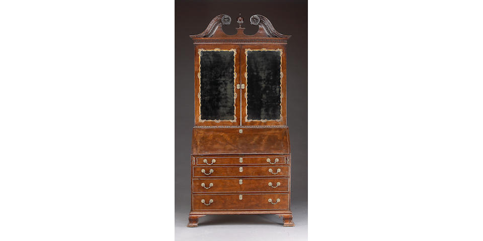 A George II mahogany secretary desk