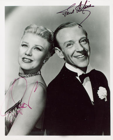 A Signed Photograph of Fred Astair and Ginger Rogers,