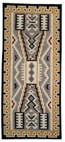 A Navajo Two Grey Hills rug, 10ft 4in x 4ft 7in