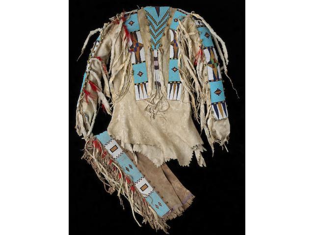 A Blackfoot beaded shirt