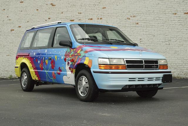 1991 Peter Max Custom Dodge Caravan Chassis No 2B4GK25K8MR158903