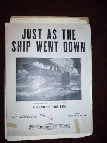 A Collection of Sheet Music, RMS Titanic Related 9