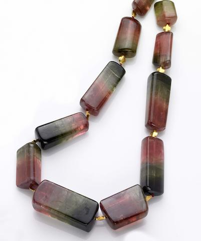 Bi-color Tourmaline Necklace