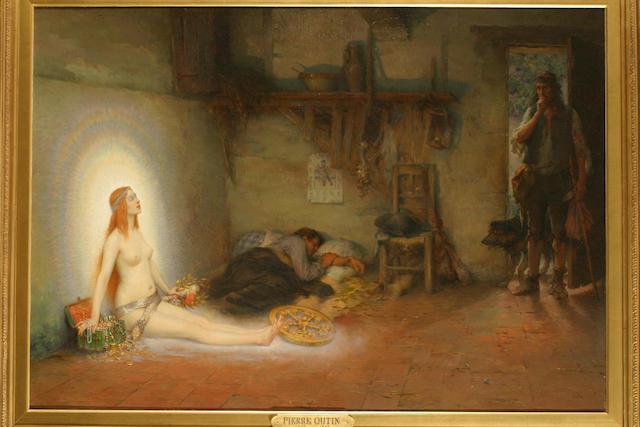 Pierre Outin (French 1840-1899) Le Juif Errant 25in x 36in (18.75cm x 91.5cm)
