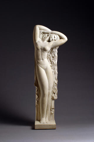 A fine and rare carved limestone figure