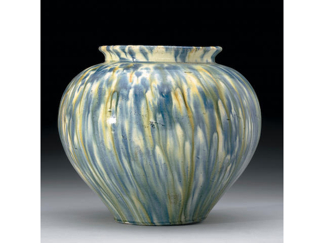 Superb Blue and {Sancai} Glazed Jar