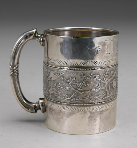 Sterling Japonisme Child's Cup by Gorham