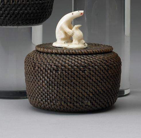 An Eskimo baleen basket