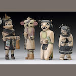 Four Hopi kachina dolls, Jimmy Koots
