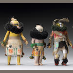 Three Zuni kachina dolls