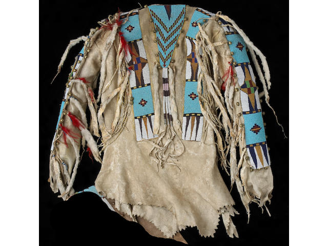 A Blackfoot beaded shirt