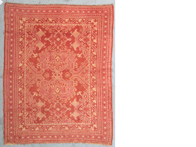 An Oushak rug West Anatolia Size approximately 7ft 2in x 5ft 7in
