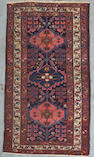 A Hamadan rug Central Persia Size approximately 6ft 4in x 3ft 6in