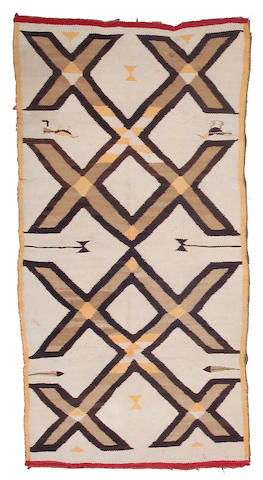 A Navajo pictorial rug, 6ft 3in x 3ft 3in