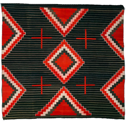 A Navajo transitional chief's style weaving, 5ft 3in x 4ft 10in