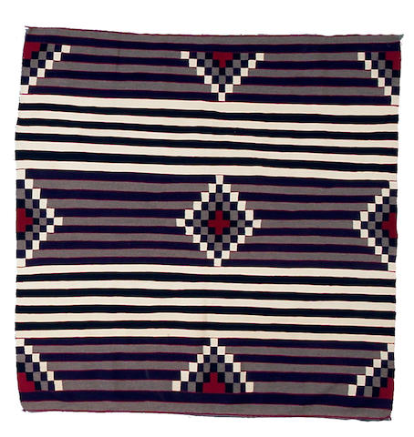 A Navajo chief's style rug, 4ft 11in x 4ft 11in