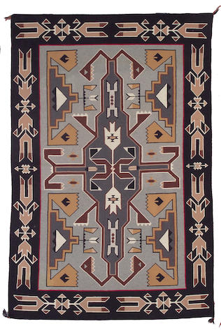 A Navajo Teec Nos Pos rug, Marie Yabney, 7ft 3in x 4ft 10in