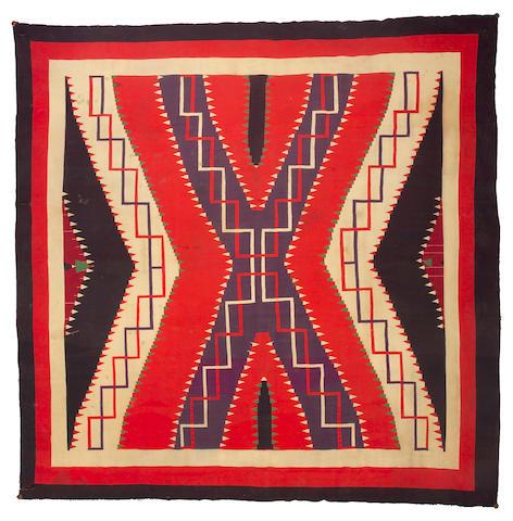 A large Navajo Germantown rug, 11ft 2in x 11ft 1in