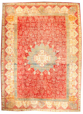 An Angora Oushak carpet West Anatolia, Size approximately 12ft 2in x 16ft 5in