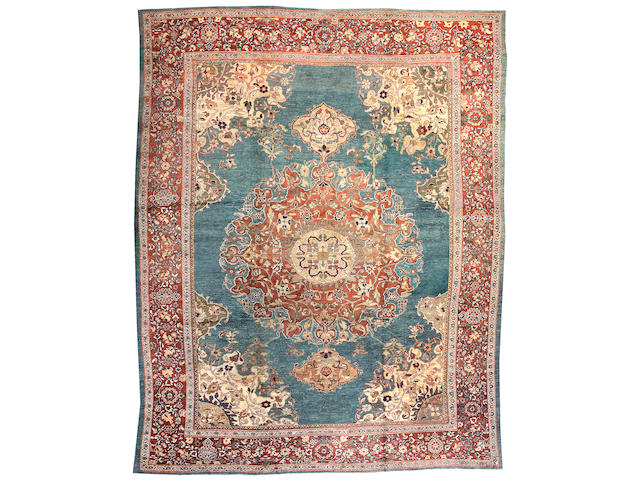 A Mahal carpet Central Persia, Size approximately 12ft 2in x 15ft 5in