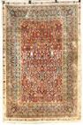 A silk Hereke rug Northwest Anatolia, Size approximately 4ft 7in x 6ft 10in