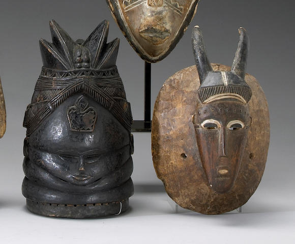 Two African masks: Mende and Gouro