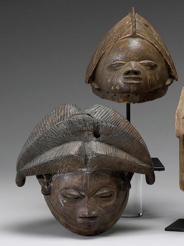 Two Yoruba masks