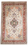 An Isfahan silk carpet South Central Persia, Size approximately 6ft 5in x 10ft 7in