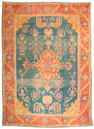 An Oushak carpet West Anatolia, Size approximately 12ft 2in x 17ft 2in
