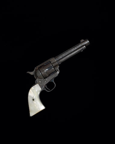 An historic factory engraved Colt single action army revolver carried by Bob Dalton when he was killed at the Coffeyville raid