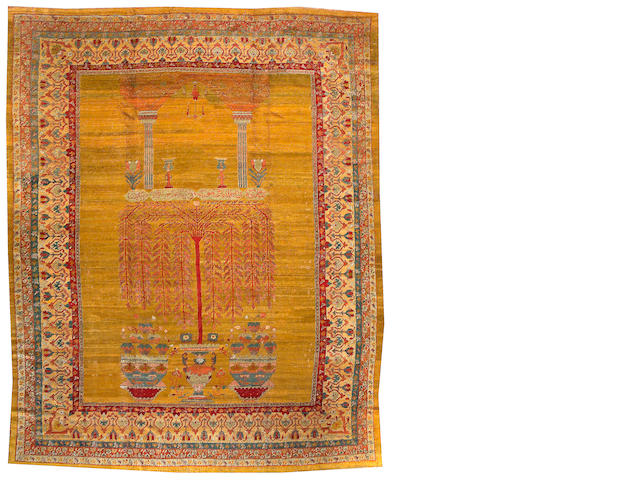 An Angora Oushak carpet West Anatolia, Size approximately 9ft 11in x 12ft 3in